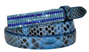 Cintura In Vero Pitone e Fibbia Limited Edition made in Italy Bagliori