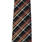 cravatta regimental in lana e seta