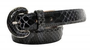 Cintura di Vero Pitone Nero
