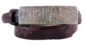 Cintura donna pitone con fibbia metallo