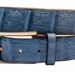 Cintura in Vero Coccodrillo Azzurra