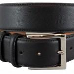 Cintura stampa saffiano nera