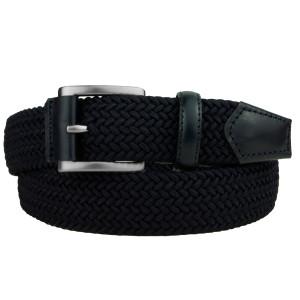 cintura elastica intrecciata blue navy