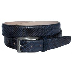 Idee regalo uomo: la cintura in vero pitone blu, elegante e glamour