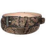 Idee regalo San Valentino Uomo: la cintura in pitone oxford color fango
