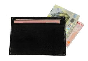 porta carte di credito in pelle Brucle