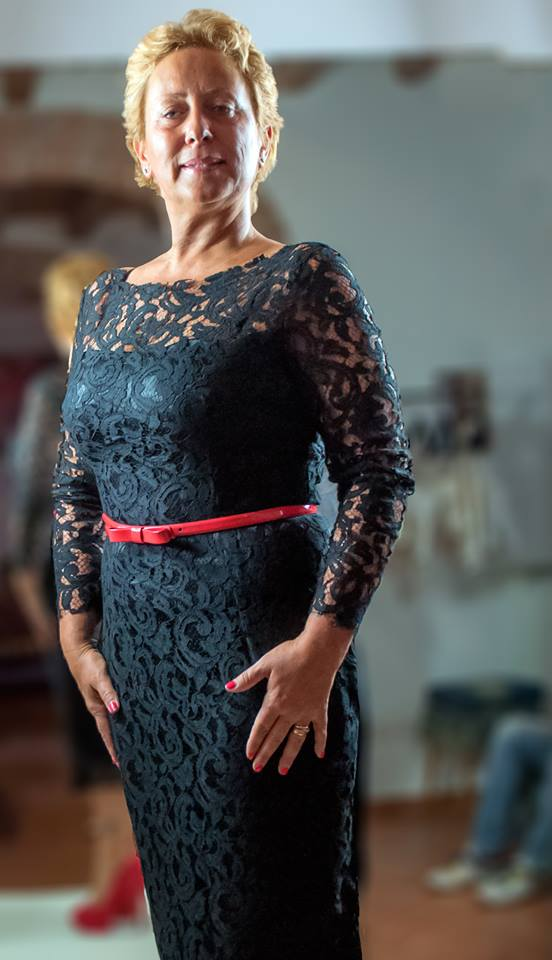 Carolyn Smith indossa per ballando con le stelle 9 un abito di Le Spose di Cocò e accessori Brucle