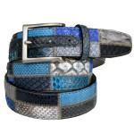 cintura in pitone patchwork